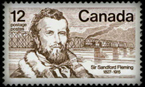 Stamp illustrating Fleming