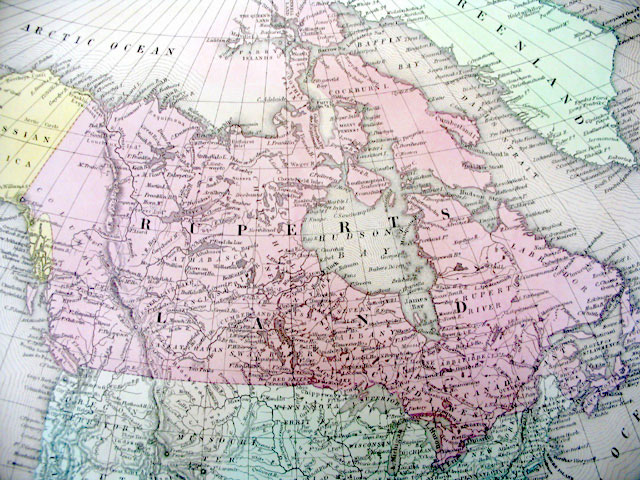 Map of North America in 1850