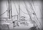 Sketch of the bridge aboard the Brilliant