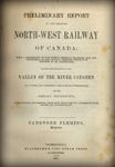 Rapport de Fleming sur le chemin de fer North-West Railway of Canada