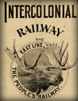 Intercolonial Railway timetable cover